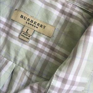 Burberry Shirts - Burberry button down shirt men's large